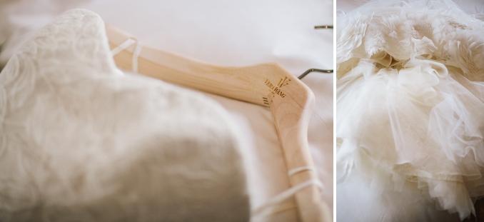 Vera Wang wedding gown details