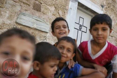 Warga Muslim Gaza mengungsi di Gereja Ortodoks Yunani 7