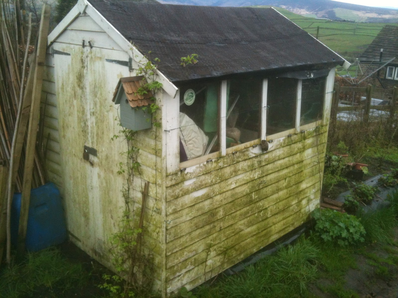 Renovating a cheap shed.