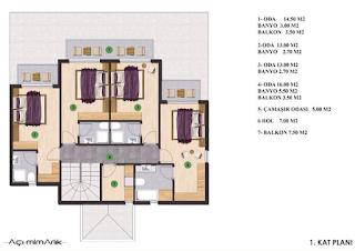 sapanca satılık lüxs villa 1.kat planı
