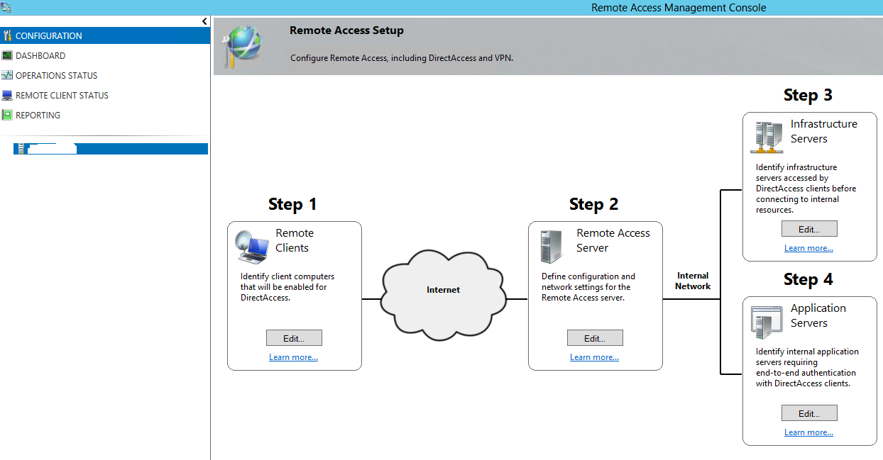 How to configure remote access