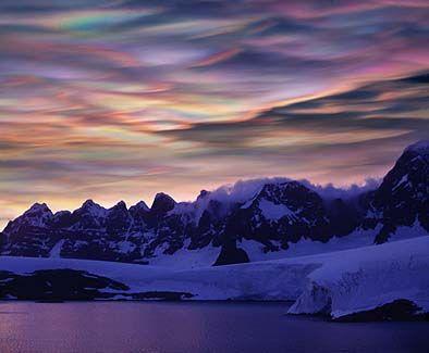 صور سحاب , صور غرائب السحاب , سحب غريبة , سحب جميله غريبه سحب عجيبة ,اشكال سحب عجيبه Polar-Stratospheric-Clouds