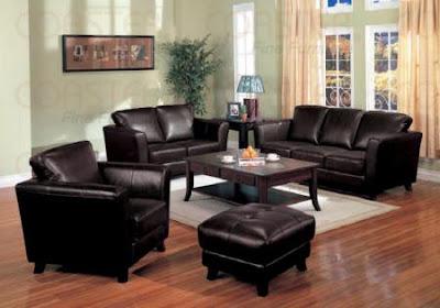 salas de estar muebles negros