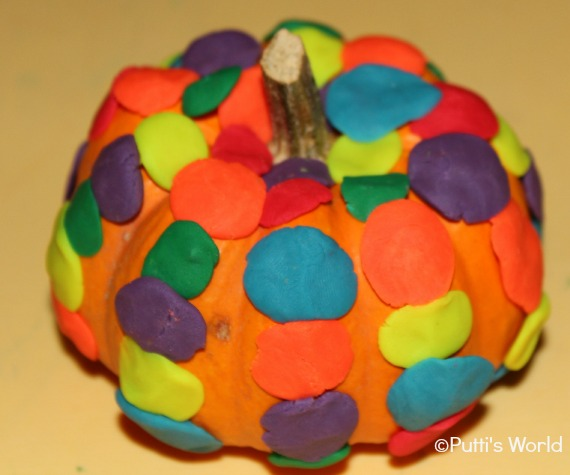 Pumpkins Play Doh Decoration Kids