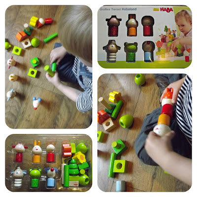 HABA, habaland, Large Animal Habaland Set, review, wooden toy, Wooden playsets, play set, interchanagble blocks, flowers, animals, discovery, imaginary play,  hand/eye coordination,