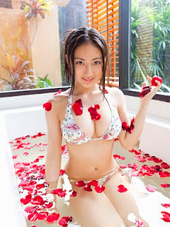 Saaya Irie Japanese girl in bathroom 4