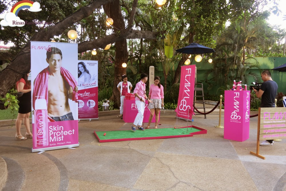 Flawless Skin Clinic event booth