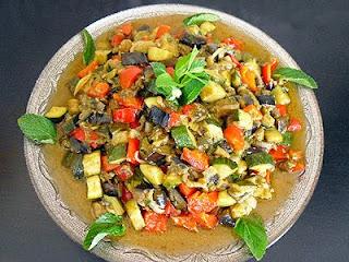 Jardinière de légumes à la menthe