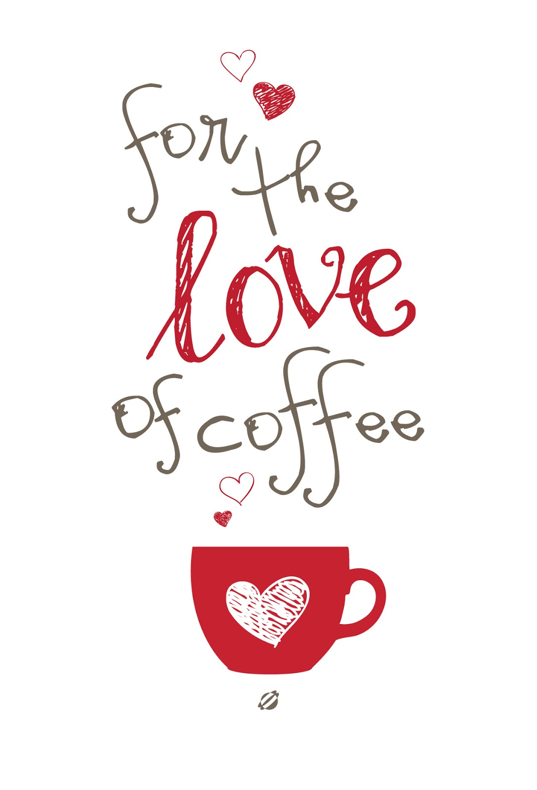 LostBumblebee ©2014 For the Love of Coffee Free Printable Personal Use Only