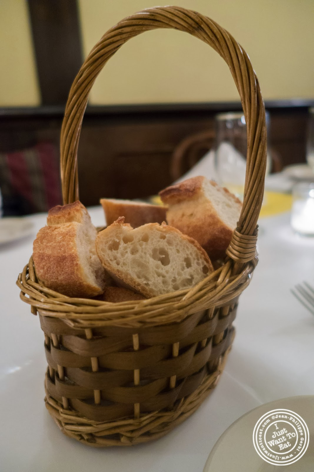 image of baguette at Sel et Poivre on the Upper East Side, NYC, New York