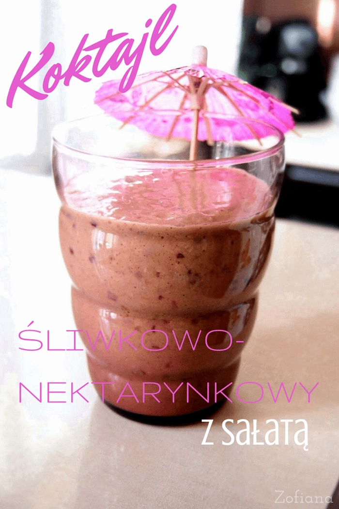 plum nectarine smoothie with lettuce