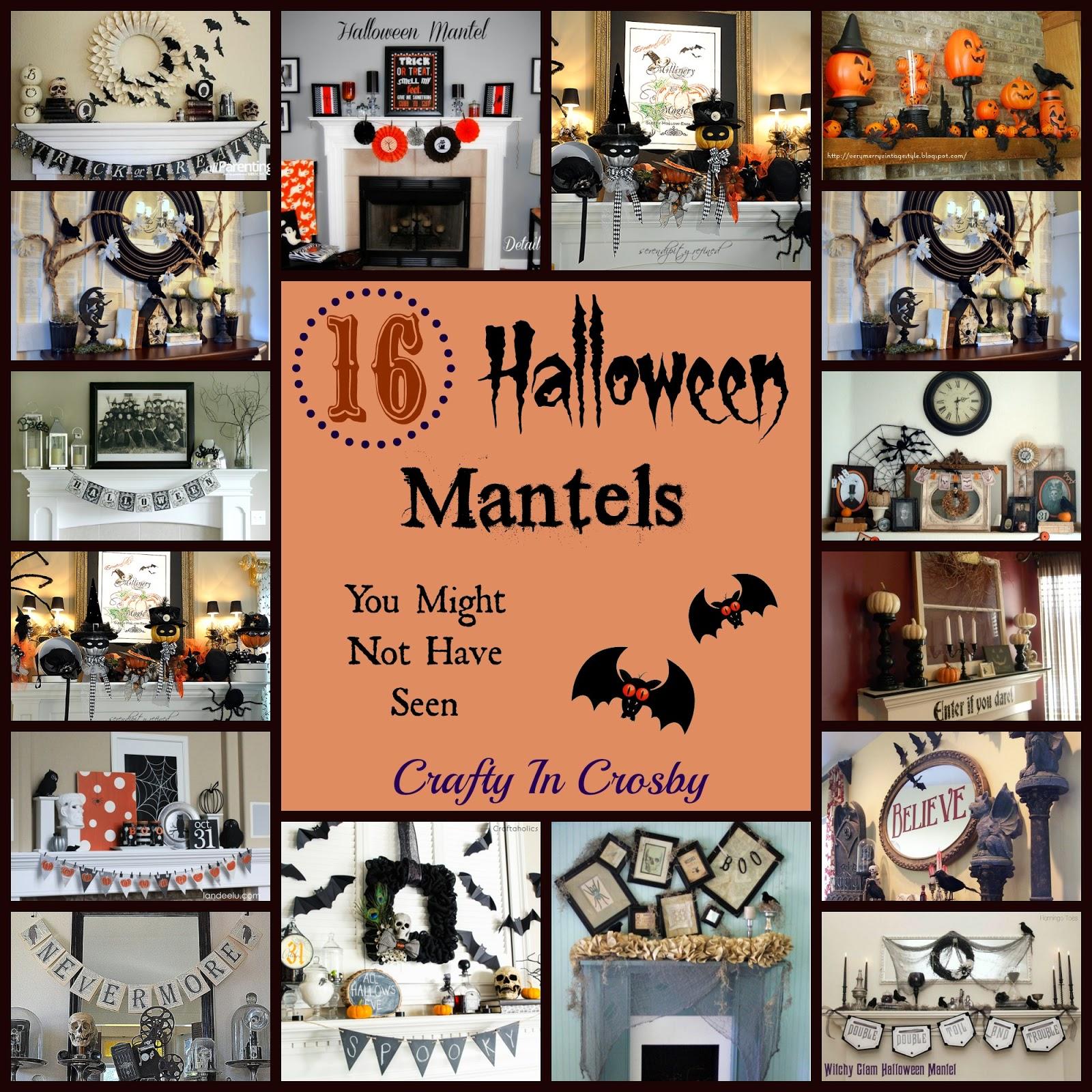 spooky mantel, easy Halloween mantels, Halloween mantel roundup