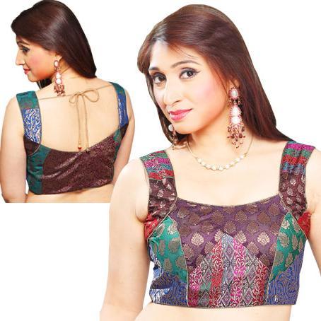 blouse neck designs for net sarees