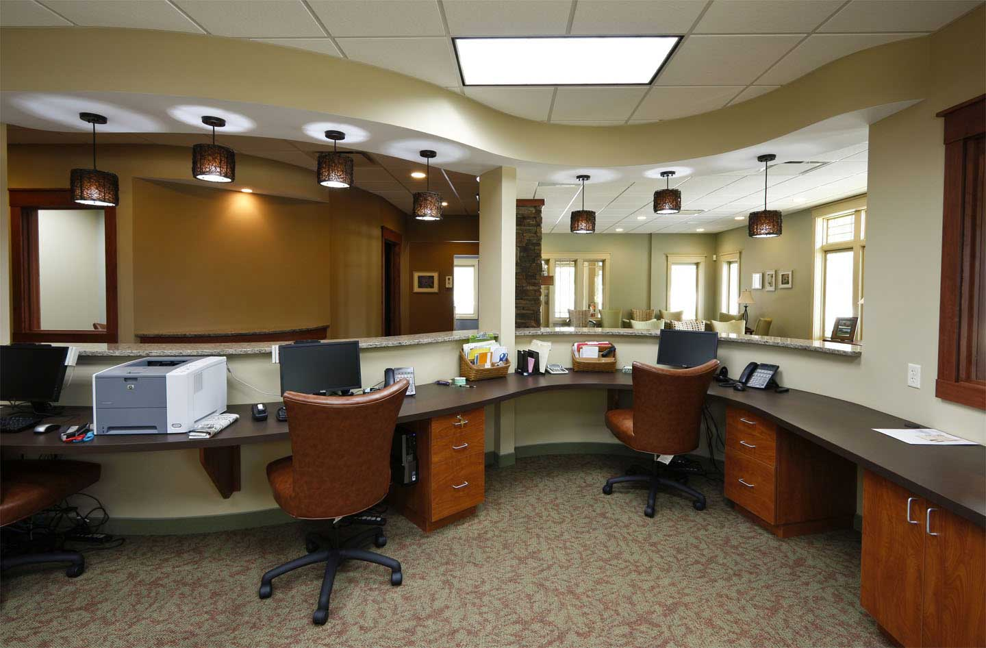 Office interior design dreams house furniture Office interior decorating ideas pictures