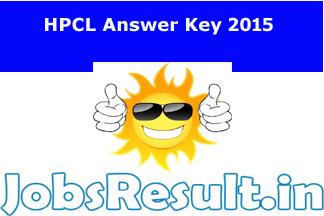 HPCL Answer Key 2015