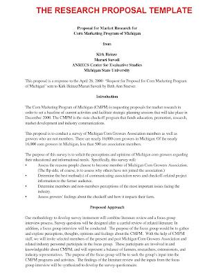 Business Letter Sample: The Research Proposal Template