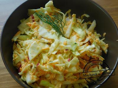 Pomysł na obiad coleslaw salat chicken sałatka do kurczaka bbq grill mechanik w kuchni