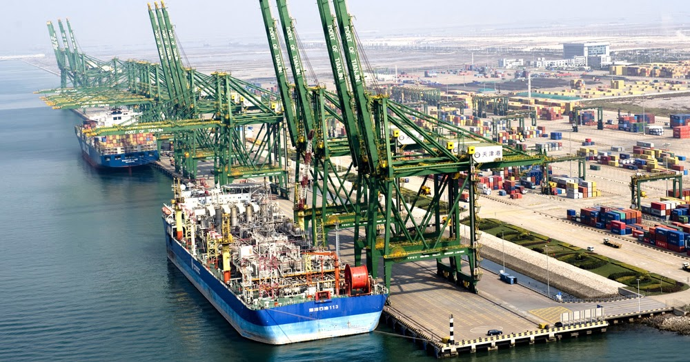 Tianjin Container Terminal Marine Vessel Traffic