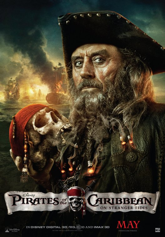 Pirates of the Caribbean 4 Blackbeard poster