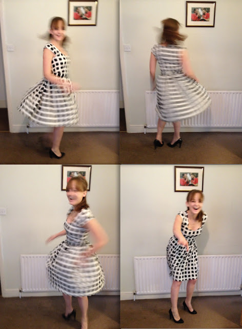 Diary of a Chainstitcher Max Mara Style Geometric Print Sewaholic Cambie Dress Sewing Pattern