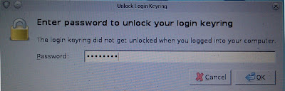 Enter password to unlock your login keyring