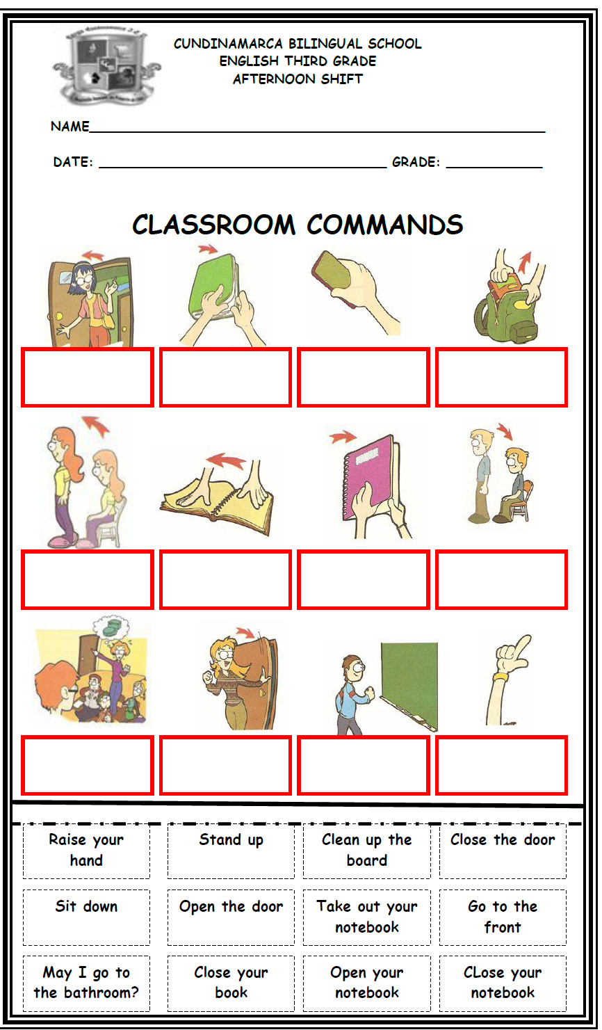English Fourth Graders U00b4 Zone  First Worksheet