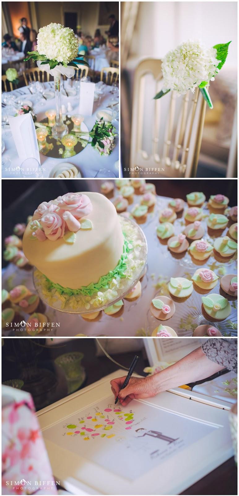 Wedding breakfast details at Ston Easton