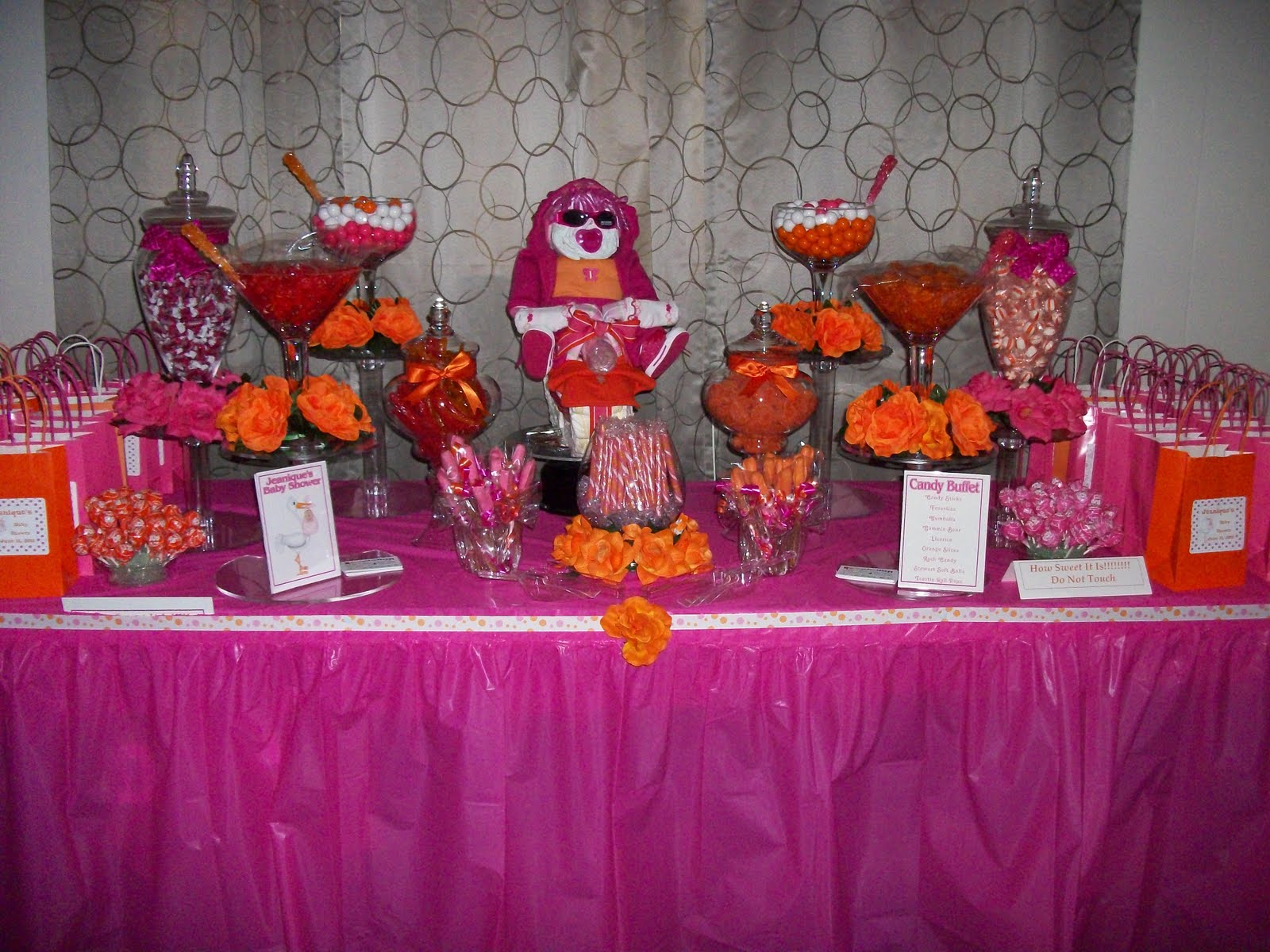 Partypizzazz Hot Pink And Orange Baby Shower