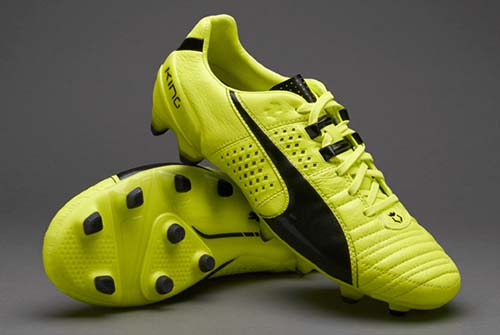 Puma King II FG with Safety Yellow and Black Colors