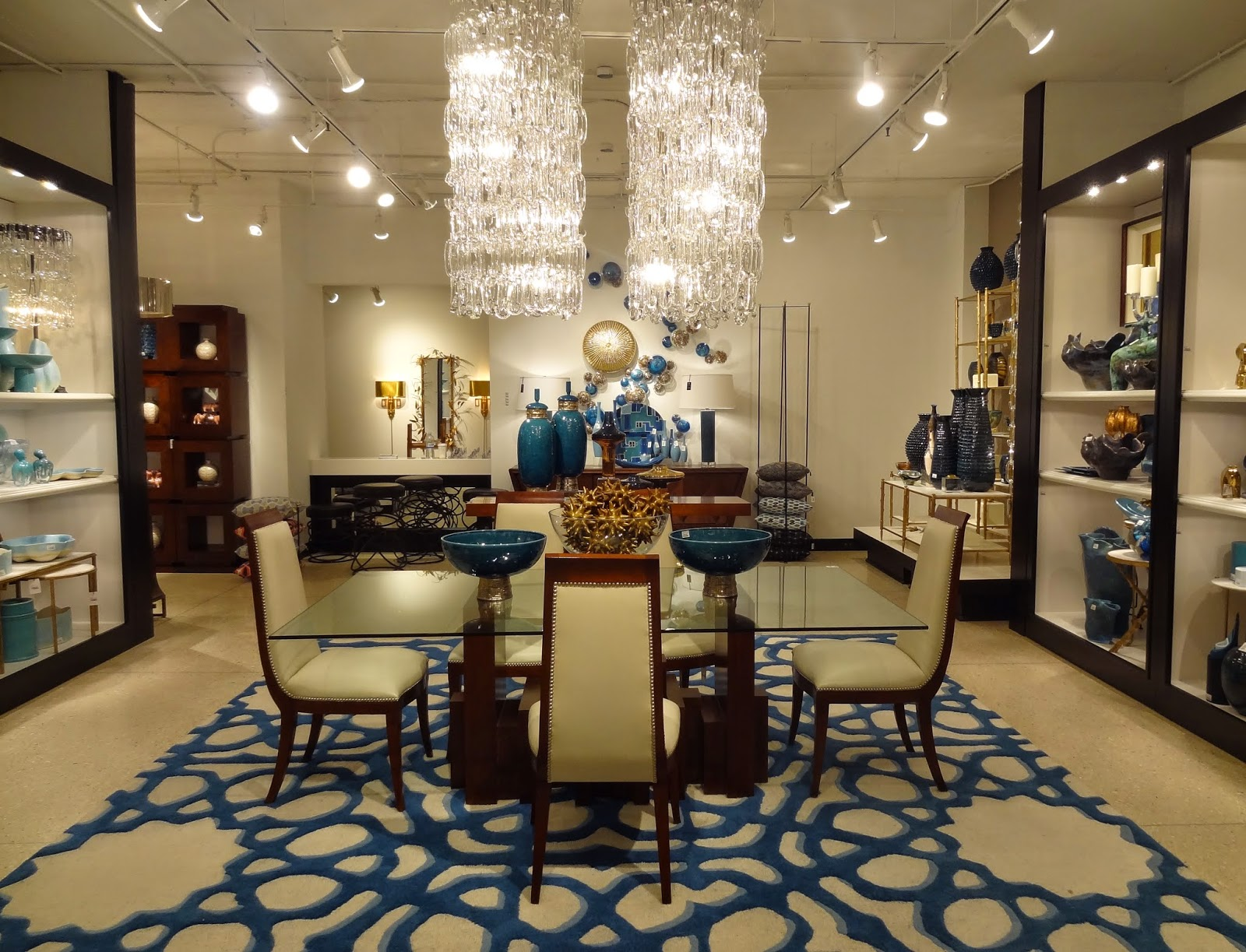 Crystal Chandelier Dining Tables Every Shade Of Blue Rug