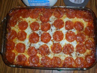casserole pepperoni pasta bake pepperoni pizza spaghetti pepperoni ...
