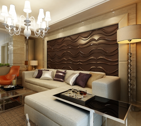 Awesome 3d wall panels and interior wall paneling ideas for Living room 3d tiles