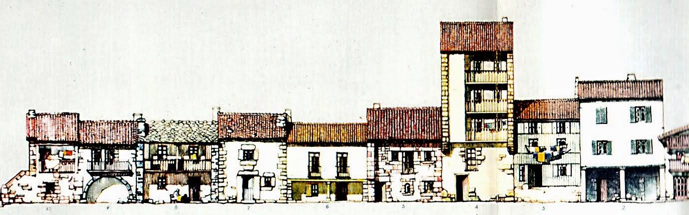 taza con barrio de pescadores. Exposición 1940
