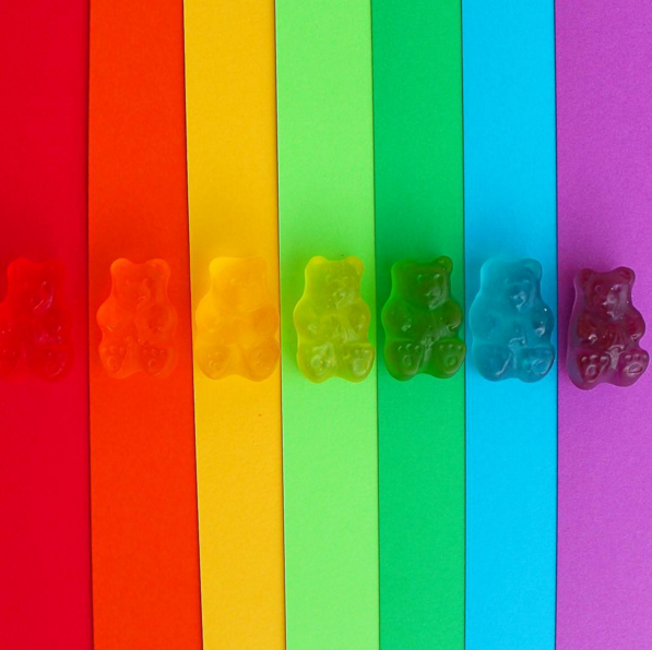 rainbow gummy bears