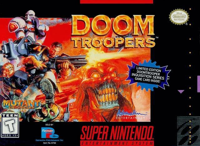 Doom Troopers snes rom game cover