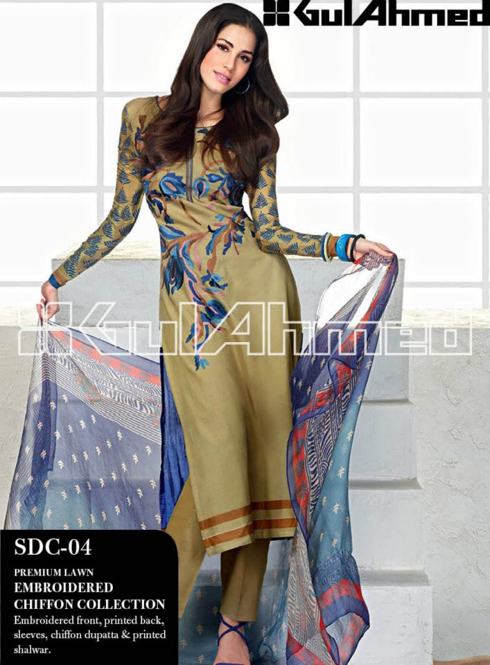 Gul Ahmed Lawn Collection 2013-14 | Gul Ahmed Summer Collection