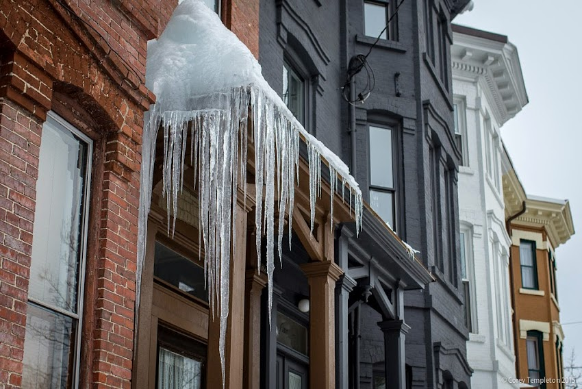 March 2015 Portland, Maine Icicles on Carroll Street building in the West End photo by Corey Templeton