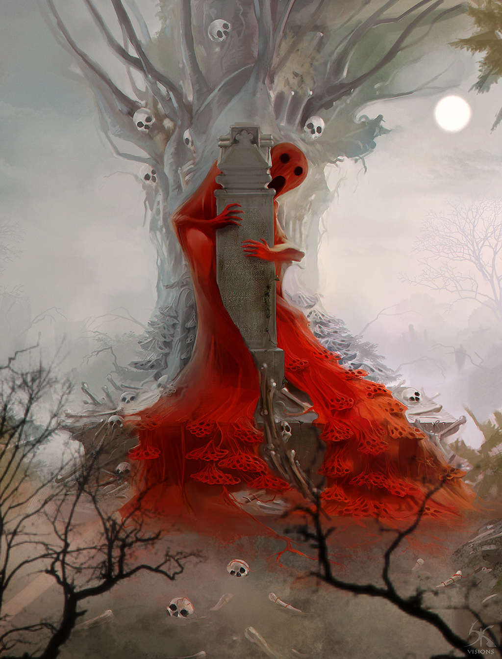 lady and red: