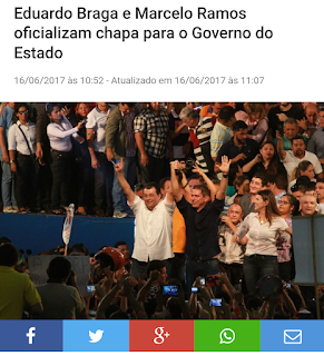Eduardo Braga e Marcelo Ramos oficializam chapa para o Governo do Estado