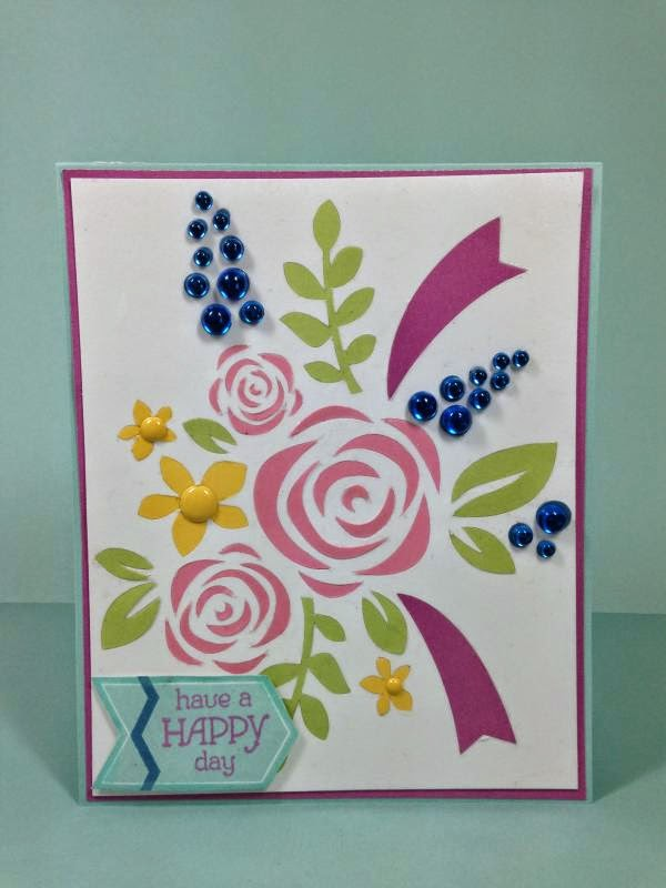 Close To My Heart Artfully Sent Cricut cartridge Floral Bouquet card