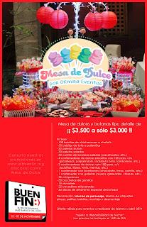 Promoción mesa de dulce El buen fin