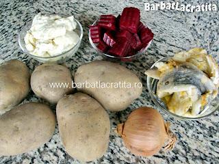 Salata de cartofi cu maioneza ingrediente reteta
