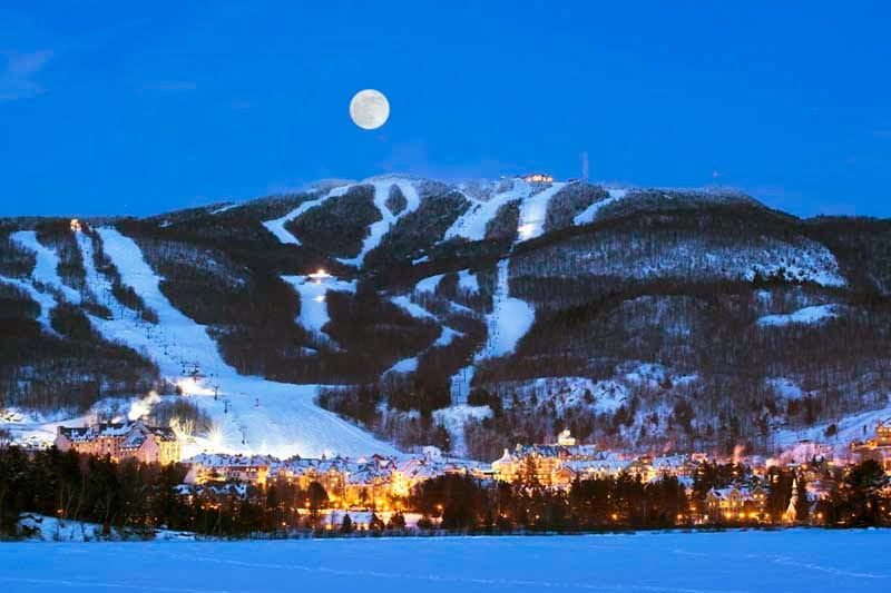 World visits mont tremblant quebec canada for Lac miroir mont tremblant