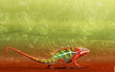 Abstract Iguana Wallpaper
