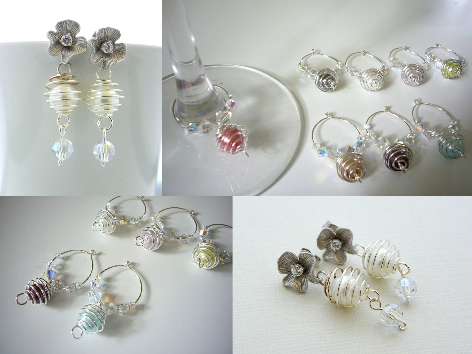 Estylo Jewelry: Bridal Earrings Tutorial - Pearl in a Silver Cage DIY