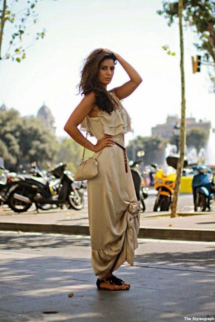 Moda - Maxivestido com nós - tendências verão 2015