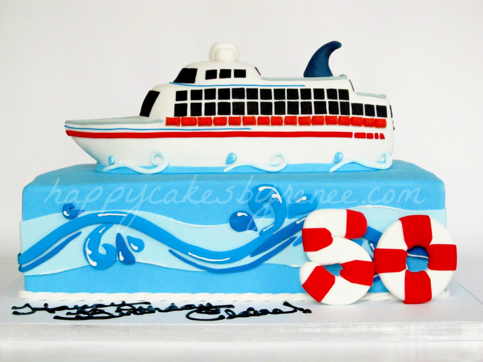 Th Birthday Cruise Ship Cake Renee Conner Cake Design - Cruise ship cake