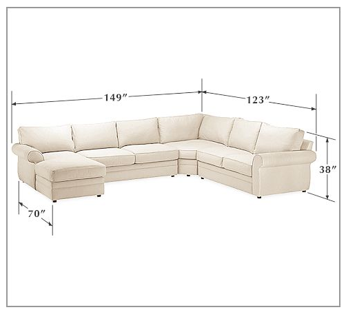 Pottery Barn Furniture Reviews Pearce Sectional: Honey We're Home: Our Living Room Sectional (Pottery Barn