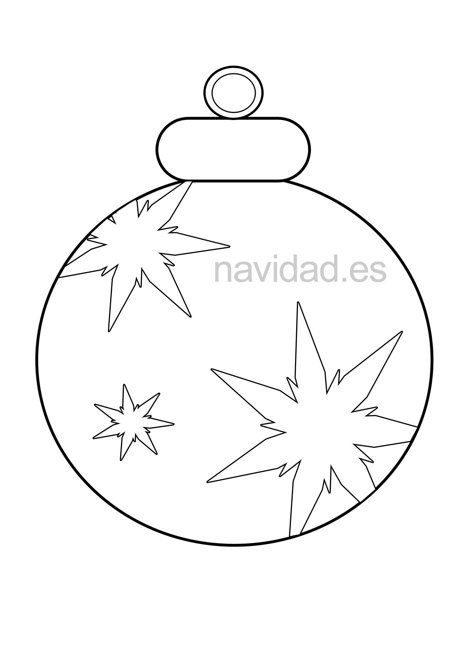 Esferas Navideos Para Colorear. Dibujo De Un Crculo Con Esferas ...