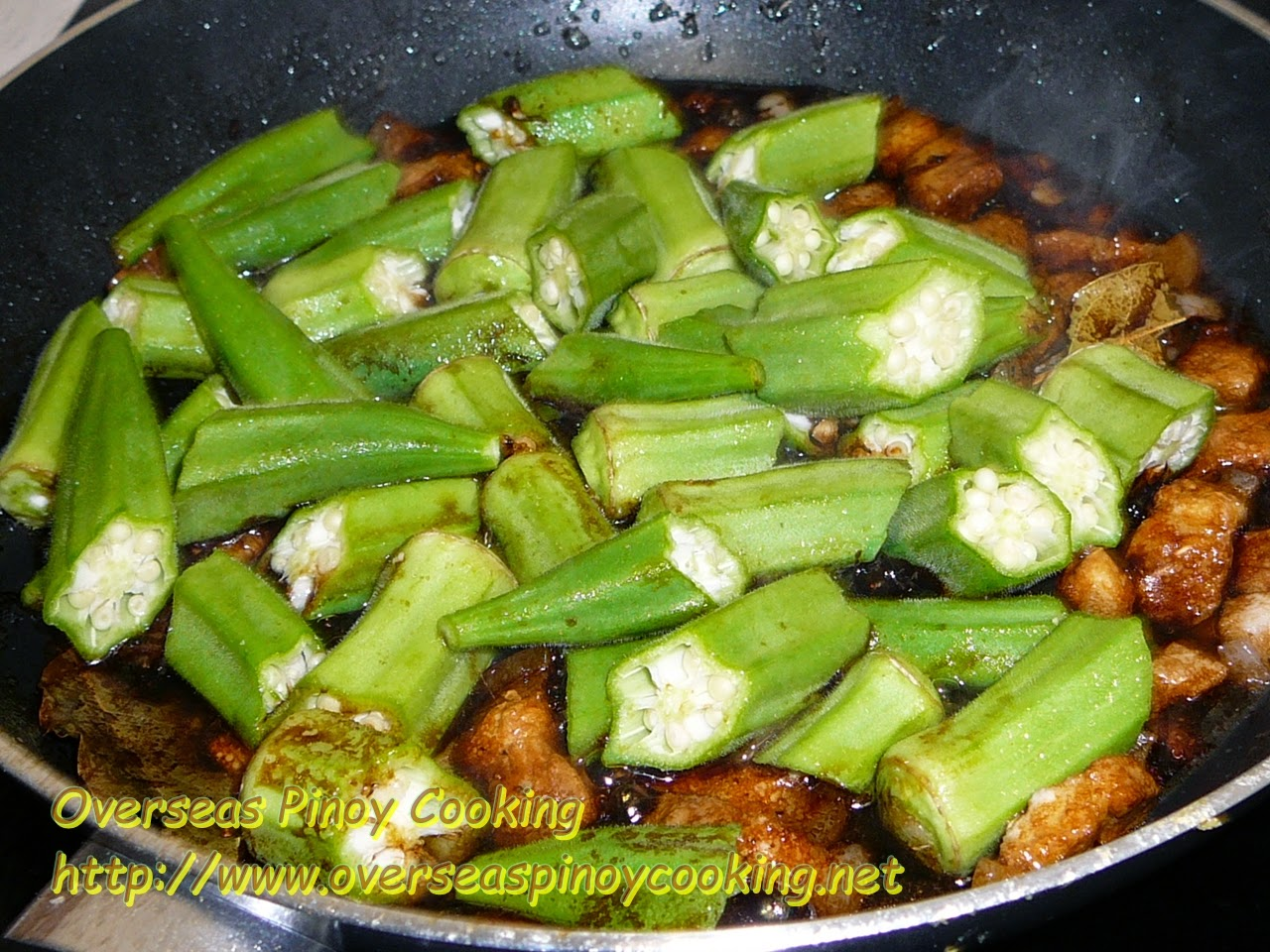 Adobong Okra - Cooking Procedure